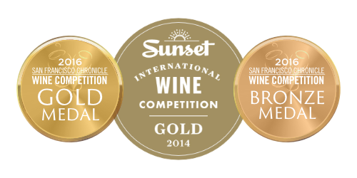Recent medals won at Sunset Magazine and San Francisco Chronicle wine competitions
